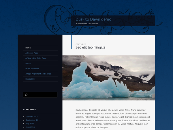 dusktodawn wordpress theme