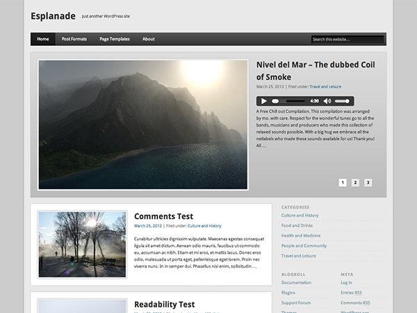 esplanade wordpress theme