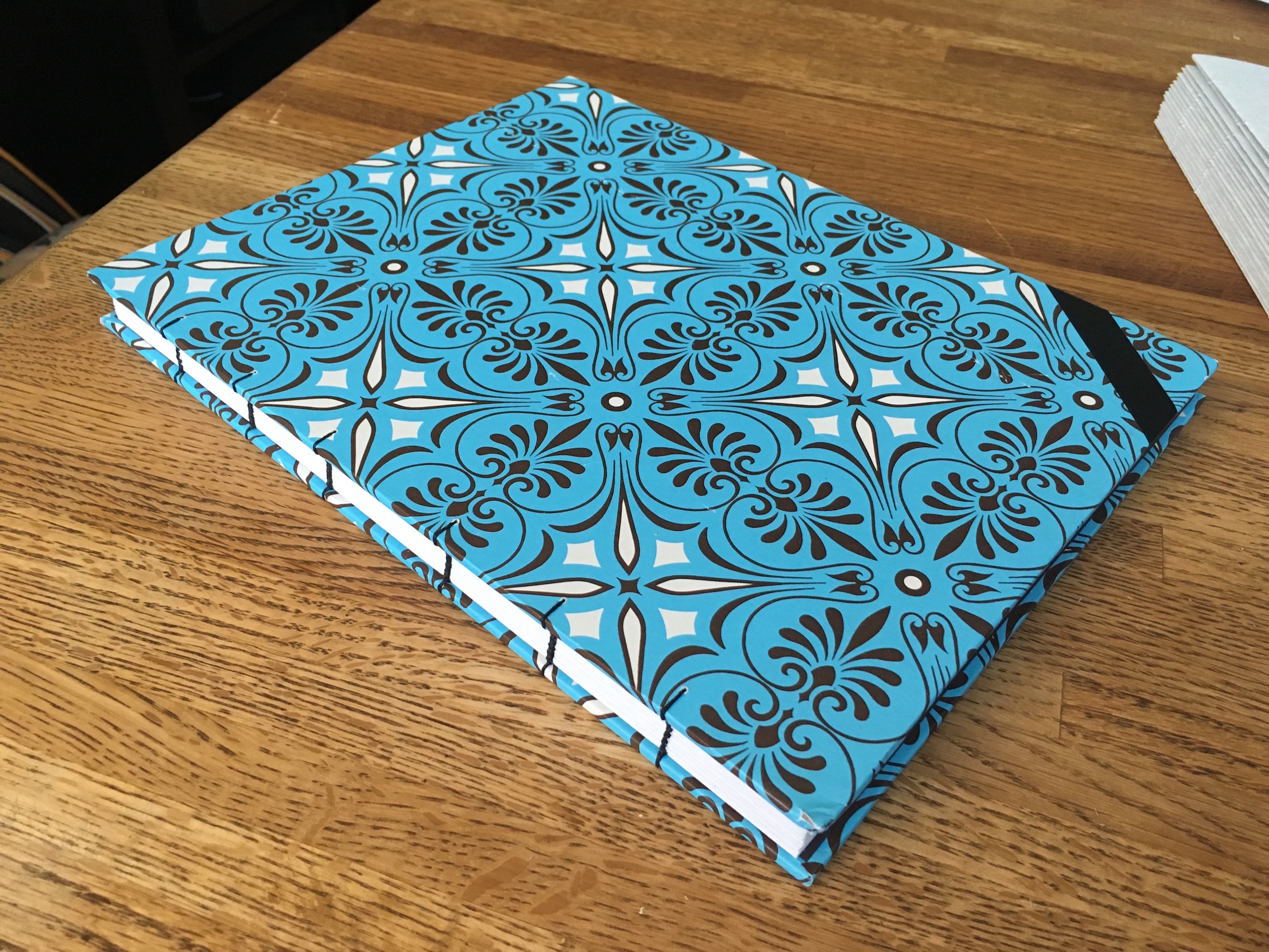 Bookbinding – A Giant Notebook, and a Punching Cradle