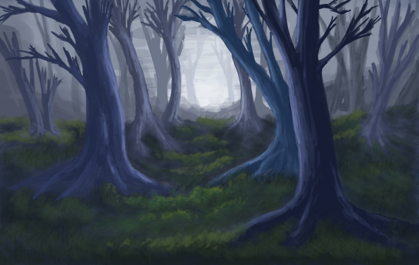 Here, have some random creepy trees that I drew, because I occasionally suffer from delusions of art